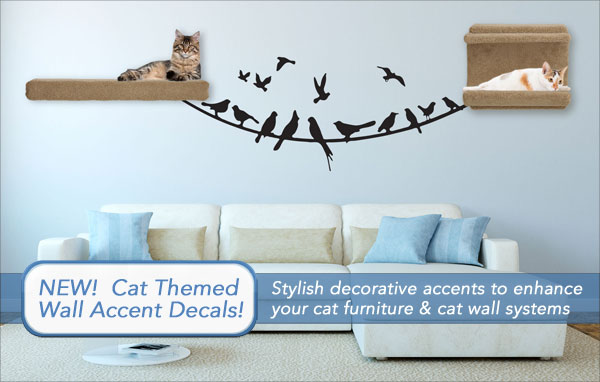 "CatsPlay's Signature Cat Furniture Line is our highest quality ""showpiece"" line of furniture for cats. Designed by our staff who have been building custom cat furniture for more than 30 years, the quality is unsurpassed in the industry. Its intelligent design considers the way that cats maneuver and our cat trees, cat gyms, and cat shelf systems provide multiple easy-to-navigate ""climb paths"" that complement felines of all ages and agility levels."